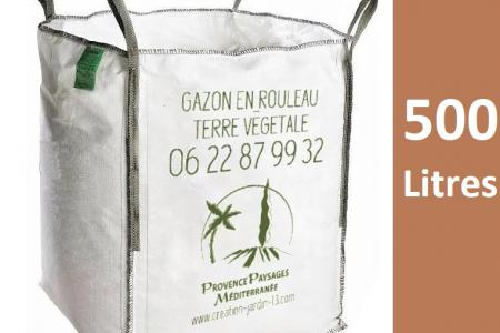 Terre végétale tamisée en big bag de 1/2 m3 (500 L)