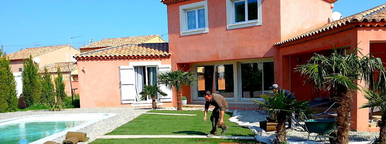 Paysagiste p pini riste marseille cr ation jardin vente - Plantes bassin de lagunage aixen provence ...