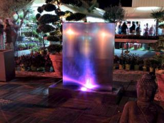 Fontaine et mur d'eau en inox 120cm Mat
